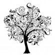 Wektor stockowy : Decorative tree, vector