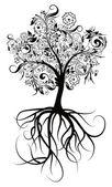 Decorative tree, vector illustration — Stock Vector
