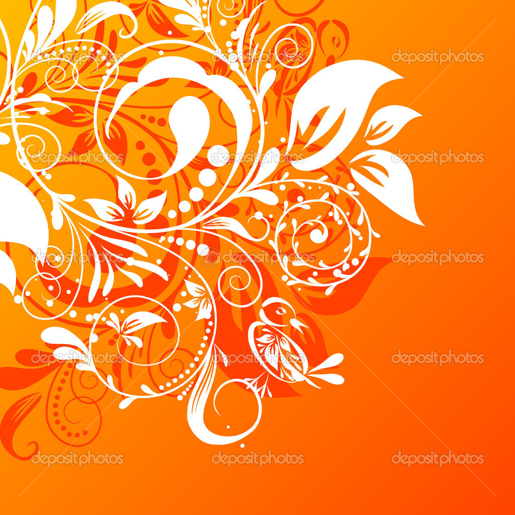 Floral abstract background, vector illustration   Stock Vector #20980011