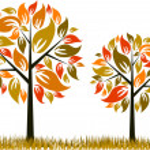 Tree autumn background, vector — Stock Vector