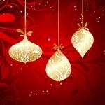 Christmas card with an ornament, vector — Stock Vector #21299913