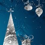 Christmas card with an ornament, vector — Stock Vector #21299991