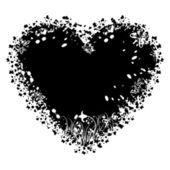 Valentines grunge heart, vector — Διανυσματικό Αρχείο