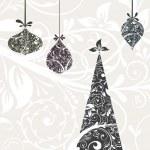Christmas card with an ornament, vector — Stock Vector #21300185