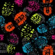 Royalty-Free Stock Vector Image: Seamless pattern, prints of foots of the child, vector
