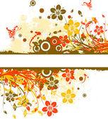 çiçek arka plan, vektör — Stok Vektör