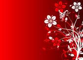 花の抽象的な背景、ベクトル — ストックベクタ