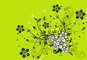 Floral abstract background, vector — ストックベクタ