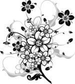 Elementos florais para design, vetor — Vetor de Stock