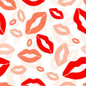 Seamless pattern, print of lips, vector — Stock Vector