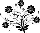 Floral elements for design, vector — Stock Vector