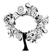 Decorative floral tree, vector — Stock Vector