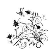 Floral background, vector — ストックベクタ