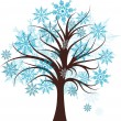 Decorative winter tree, vector — Vector de stock #21597297