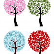 Valentines, spring, winter tree background, vector - Stock Vector