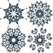 Floral snowflakes, set, element for design, vector — Imagens vectoriais em stock