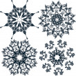 Floral snowflakes, set, element for design, vector - Stock Vector
