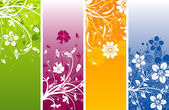 Floral abstract background, vector — Vector de stock