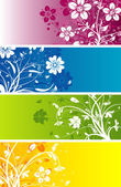 Floral abstract background, vector — Stock Vector