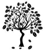 Coffee tree, vector — Stock Vector