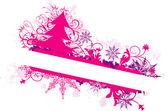 Winter floral background, vector — ストックベクタ