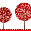 Valentines tree background, vector — Stock Vector #22235089