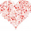 Valentines Day, heart, background, vector — Vector de stock #22235103