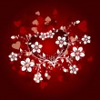 Valentines floral background, vector - Stock Vector