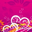 Valentines floral background, vector — Stock Vector