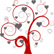 Valentines tree background, vector — Stock Vector #22235171