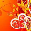 Valentines floral background, vector — Stock Vector #22235177