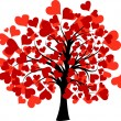 Valentines tree, vector — Stock Vector