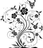 Floral abstrato, vector — Vetorial Stock