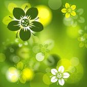 Abstact floral, vector — Vector de stock
