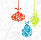 Christmas card with an ornament, vector — Stock Vector