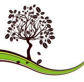 Coffee tree background, vector — Stock Vector