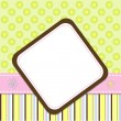 Template cards for the girl, vector - Stock Vector