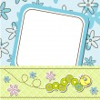 Template cards for the boy and girl, vector - Stock Vector