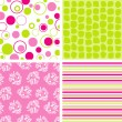 Scrapbook patterns for design, vector — ストックベクタ