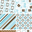 Scrapbook elements and patterns for design, vector - Stock Vector