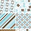 Eléments de Scrapbook et motifs pour la conception, vector — Vecteur