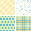 Scrapbook patterns for design, vector - Stock Vector