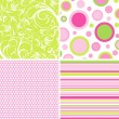 Scrapbook patterns for design, vector — Stock Vector