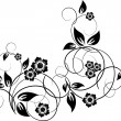 Floral elements for design, vector — Imagen vectorial