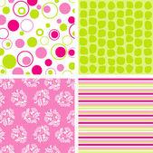 Scrapbook patterns for design, vector — Stock Vector