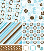 Scrapbook elements and patterns for design, vector — Stock Vector