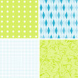Stok Vektör: Scrapbook patterns for design, vector
