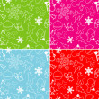 Seamless christmas pattern, vector — Stock Vector #25018593