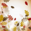 Oak autumn background, vector — Stock Vector