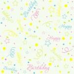 Template birthday background, vector — Stock Vector